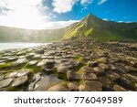 the giant's causeway at dawn on ... | Shutterstock . vector #776049589