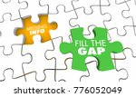 missing information puzzle fill ... | Shutterstock . vector #776052049