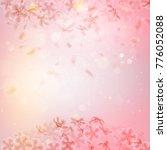 sakura flying downwind petals... | Shutterstock .eps vector #776052088