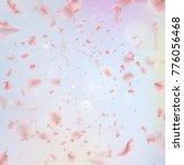 sakura flying downwind petals... | Shutterstock .eps vector #776056468