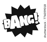 comic boom bang icon. simple... | Shutterstock .eps vector #776059018