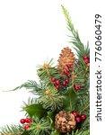 christmas tree border | Shutterstock . vector #776060479