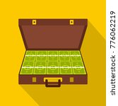 suitcase money icon. flat... | Shutterstock .eps vector #776062219