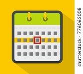 calendar icon. flat...
