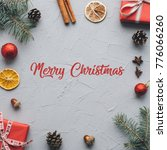 board with post merry christmas | Shutterstock . vector #776066260