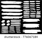 collection of hand drawn white... | Shutterstock .eps vector #776067184