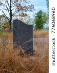 lonely tombstone granite slab... | Shutterstock . vector #776068960