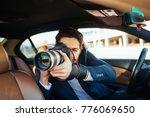 private detective investigating ... | Shutterstock . vector #776069650