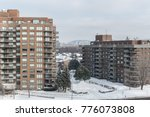 modern condo buildings with... | Shutterstock . vector #776073808