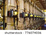 production choke valve with ice ... | Shutterstock . vector #776074036