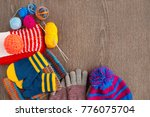 yarn for knitting and clothing. ...   Shutterstock . vector #776075704