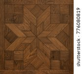 decorative wooden tile | Shutterstock . vector #776080819