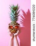 creative layout made of summer... | Shutterstock . vector #776084320