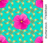 seamless pattern with cute... | Shutterstock .eps vector #776085664