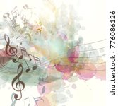 clean music background with... | Shutterstock .eps vector #776086126