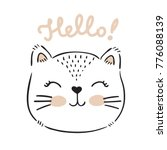 vector hand drawn cute cat's... | Shutterstock .eps vector #776088139
