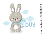 cute cartoon rabbit baby boy... | Shutterstock .eps vector #776088214