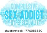 sex addict word cloud on a... | Shutterstock .eps vector #776088580