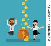 business woman earns more money | Shutterstock .eps vector #776089450