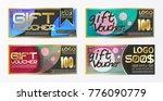 gift certificate voucher coupon ...   Shutterstock .eps vector #776090779