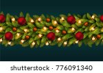 holiday's seamless christmas... | Shutterstock .eps vector #776091340