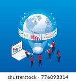 global data analysis | Shutterstock .eps vector #776093314