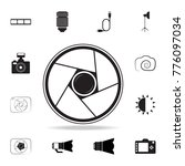 photo camera lens logo icon... | Shutterstock .eps vector #776097034