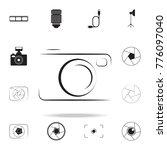 photo camera silhouette logo...   Shutterstock .eps vector #776097040