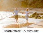 lovely senior mature romantic... | Shutterstock . vector #776098489