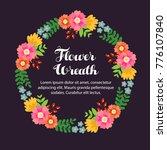 flower garland and wreath | Shutterstock .eps vector #776107840