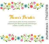 flower spring border | Shutterstock .eps vector #776107858