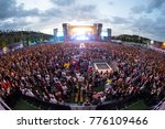 madrid   jun 24  the crowd in a ... | Shutterstock . vector #776109466