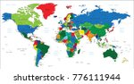 world map in color  | Shutterstock .eps vector #776111944