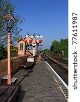 old station platform   signal... | Shutterstock . vector #77611987