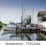 A Commercial Fishing Boat In...