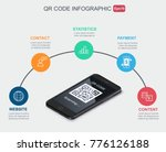 qr code infographic scaning... | Shutterstock .eps vector #776126188