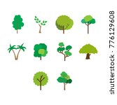 flat color tree icon set | Shutterstock .eps vector #776129608