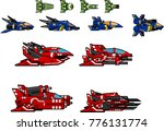 collection of space ships for... | Shutterstock .eps vector #776131774