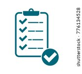 checklist icon  check mark icon ...   Shutterstock .eps vector #776134528