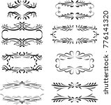 collection of calligraphic... | Shutterstock .eps vector #776141320