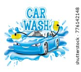car wash sign. | Shutterstock .eps vector #776142148