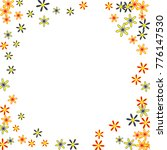 cute floral pattern with simple ... | Shutterstock .eps vector #776147530