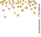 cute floral pattern with simple ... | Shutterstock .eps vector #776148694