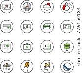 line vector icon set   credit... | Shutterstock .eps vector #776150134