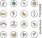 line vector icon set   suitcase ... | Shutterstock .eps vector #776150608