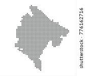 pixel map of montenegro. vector ...