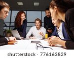 business executive delivering... | Shutterstock . vector #776163829