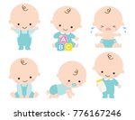 cute baby or toddler boy vector ... | Shutterstock .eps vector #776167246