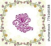 beautiful frame of flowers.... | Shutterstock .eps vector #776168188