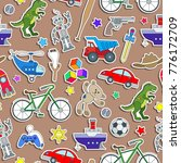 seamless pattern on the theme... | Shutterstock .eps vector #776172709